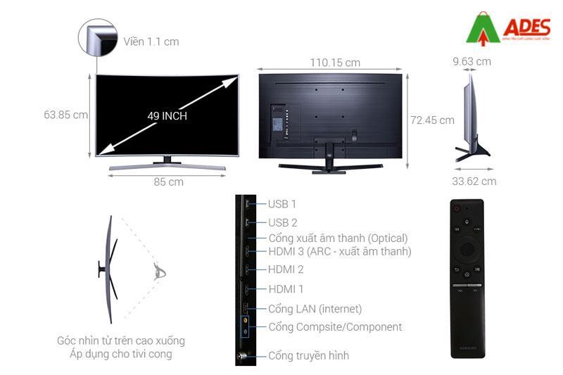 Smart Tivi man hinh Cong Samsung 49 inch 49NU7500 - 4K UHD